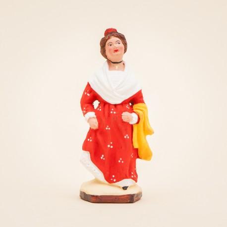 Santon de Provence - Arlésienne 7cm - Costume - Santons Flore Aubagne