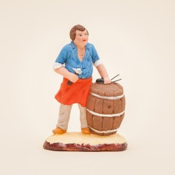 Santons de Provence - Santon Tonnelier 7 cm - Santons Jacques Flore Aubagne
