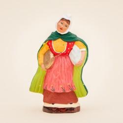 Santons de Provence - Femme à la chaufferette 7 cm - Santons Jacques Flore Aubagne