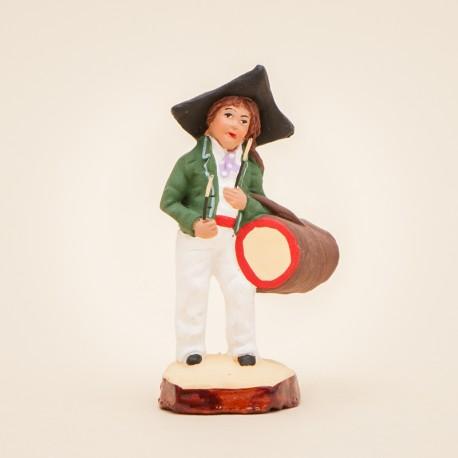 Santons de Provence - Jeune tambourinaire 7 cm - Santons Jacques Flore Aubagne