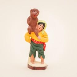 Santon enfant gitan au singe