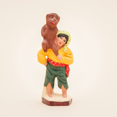 Gitan enfant au singe