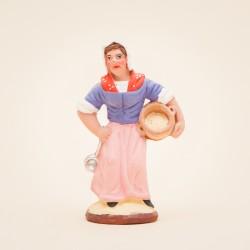 Santon de Provence - Femme aux limaçons 7cm - Santons Flore