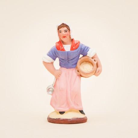 Femme aux limaçons 7 cms