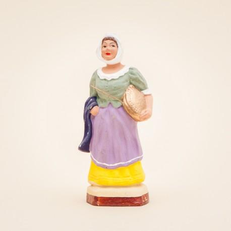 Santon de Provence - Femme à la Bassinoire 7cm - Santons Flore Aubagne