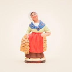 Santon de Provence - La Femme à l'ail 7cm - Santons Flore