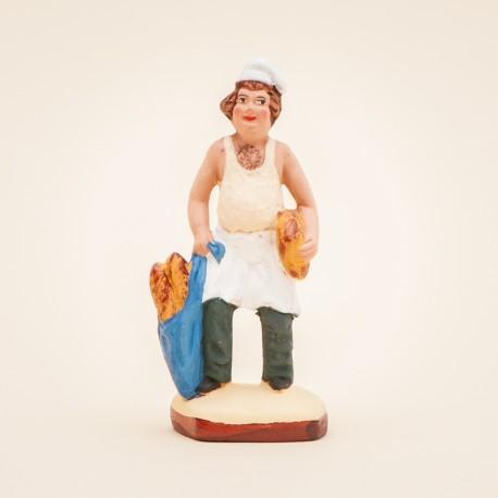 Santon de Provence - Le Boulanger 7cm - Boulangerie - Santons Flore