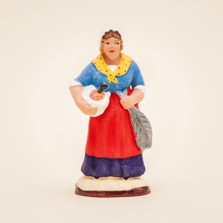 Santon de Provence - Femme à l'aïoli 7cm - Marseille -Santons Flore