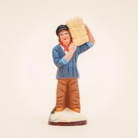 Santon de Provence - L'Homme à la botte de foin 7cm - Santons Flore