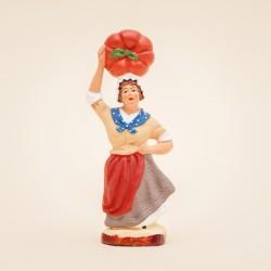 Santon de Provence - La Femme à la courge 7cm - Santons Flore Aubagne