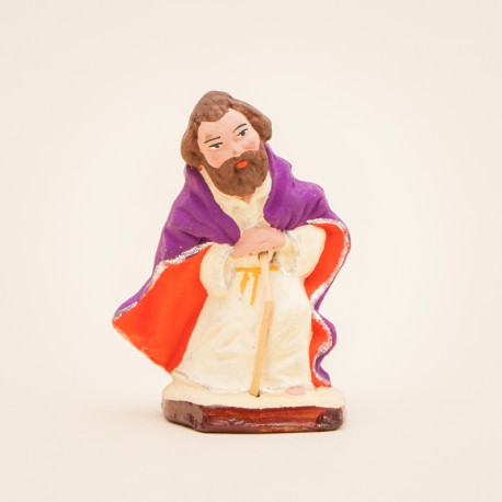 Santon de Provence Saint-Joseph à genoux 7cm - Nativité - Santons Flore