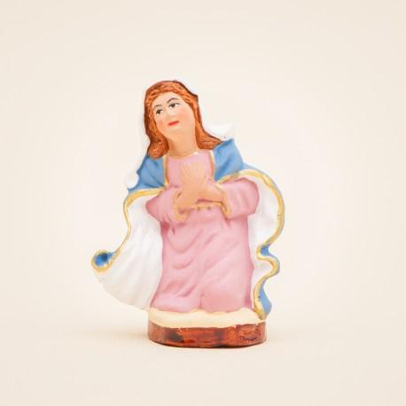 Santon de Provence - Vierge Marie 7cm - Nativité - Sainte famille - Flore