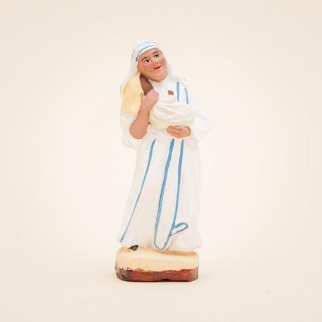 Santon de Provence - Mère Teresa 7cm - Calcutta - Santons Flore Aubagne