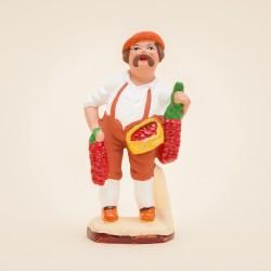 Santon l'Homme aux piment d'espelette - le basque