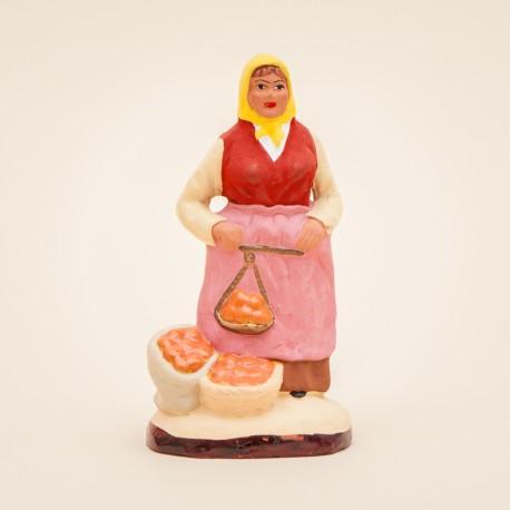 Santon de Provence - La Femme aux Oranges 7cm - Santons Flore Aubagne