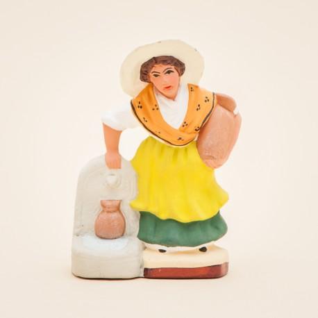 Santon de Provence - La Femme à la fontaine 7cm - Santons Flore Aubagne