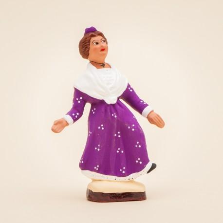 Santon de Provence - Arlésienne Solo 7cm - Costume - Santons Flore Aubagne