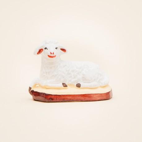 Santon de Provence - Mouton couché 7cm - Transhumance - Santons Flore Aubagne