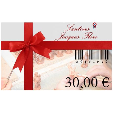 Carte cadeau 30€ - Santons Flore