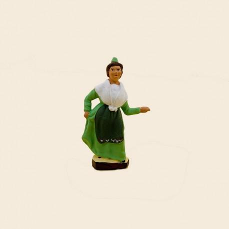 Santons de Provence - La Danseuse de Farandole n°3 7cm - Santons Flore