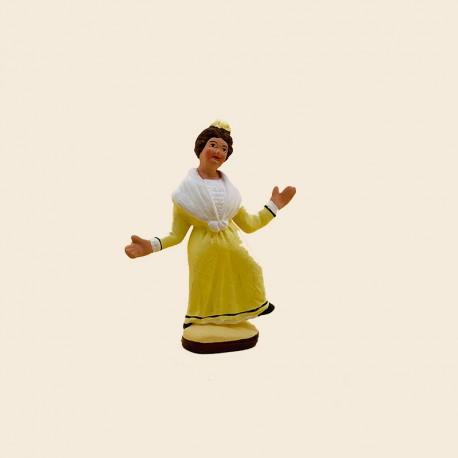 Santons de Provence - La Danseuse de Farandole n°2 7cm - Santons Flore