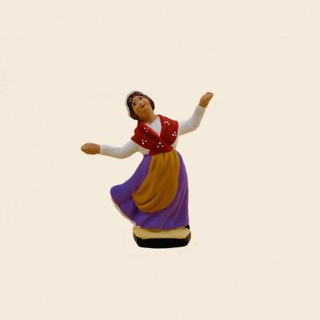 Santons de Provence - La Danseuse de Farandole n°1 7cm - Santons Flore