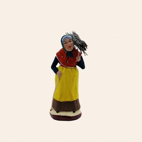 Santon de Provence - Femme au fagot 7cm - Bucheron - Santons Flore