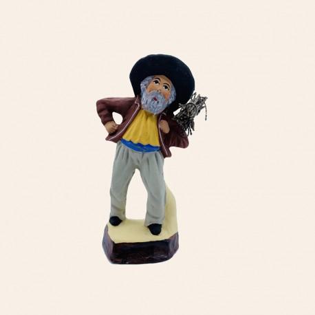 Santon de Provence - L'Homme au fagot 7 cm - Santons Flore Aubagne