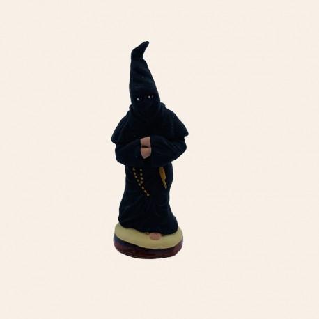 Santon de Provence - Le pénitent noir 7cm - Santons Flore Aubagne
