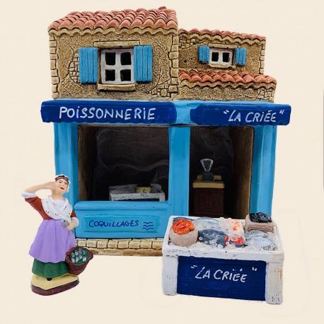 Santon de Provence - Décor La Poissonnerie - Santons Flore Aubagne
