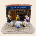 Santons La partie de cartes et le bar de la marine - Pagnol