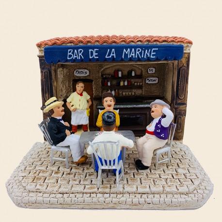 Santons La partie de cartes et le bar de la marine