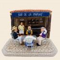 Santon La partie de cartes et Marius dans le bar de la marine - Pagnol