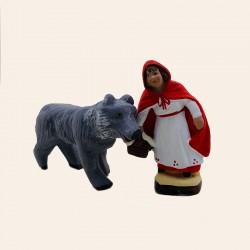 Santon Le petit Chaperon et le loup