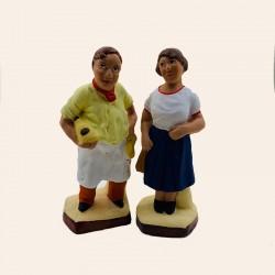 Santons Fanny et Marius