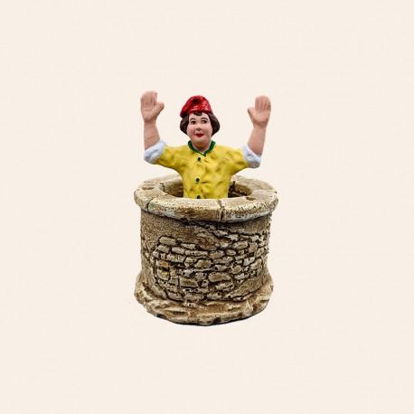 Santon de Provence - Pistachier dans le puits 7cm - Lou Pistachié - Santons Flore