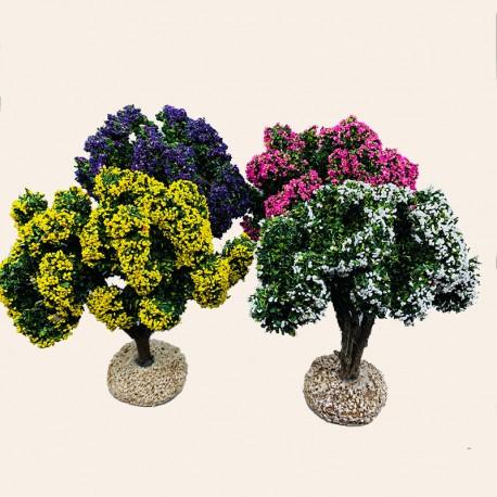 Santon Provence - Les arbres fleuris - Décor Crèche de Noël - Santons Flore