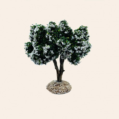 Santons de Provence - Arbre L'amandier Blanc 12 cm - Santons Flore Aubagne