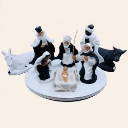 """La Sainte Famille complète """"Noir et Blanc"""""""