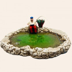 Le Lac et le pêcheur assis
