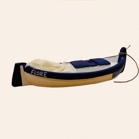 Santon de Provence - La barque Marseillaise Bleu Marine - Santons Flore Aubagne