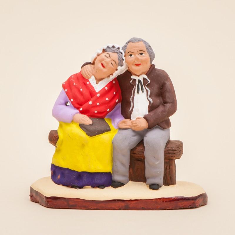 Santons de Provence - Couple de vieux - Santons Flore