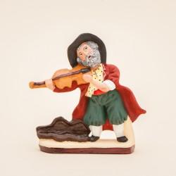 Santons de Provence - Le Violoniste - Santons Jacques Flore Aubagne