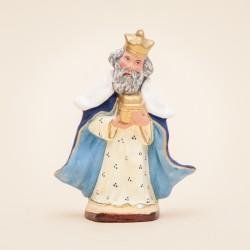 Santons de Provence - Roi Mage Blanc Gaspard - Santons Flore à Aubagne
