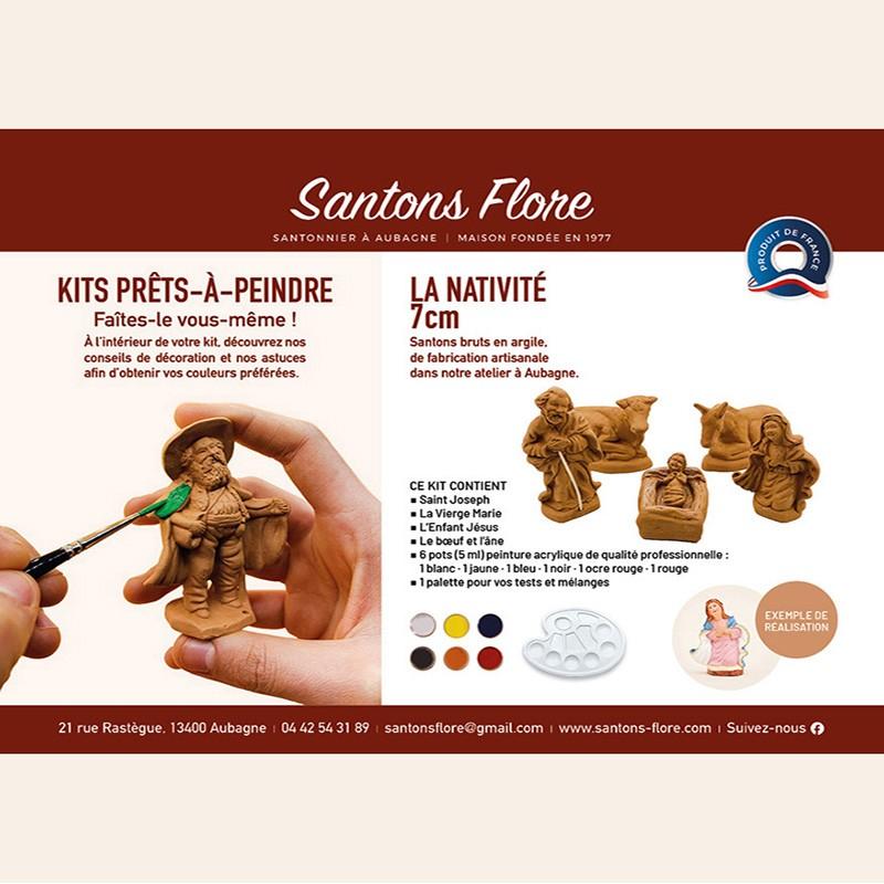 Coffret prêt à peindre - Santons de Provence Flore