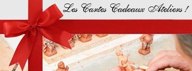 Carte Cadeau atelier de fabrication de santons à Aubagne