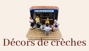 Les décors de crèche - santons de Provence décoration et arbres - Santons Flore Aubagne